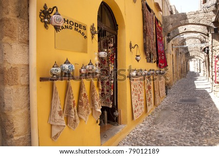 Souvenir Shop in Rhodes, Greece