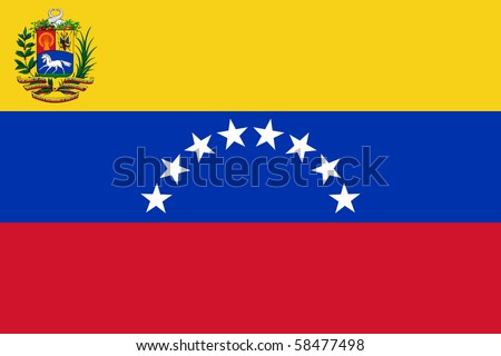 Sovereign state flag of country of Venezuela in official colors. - stock photo