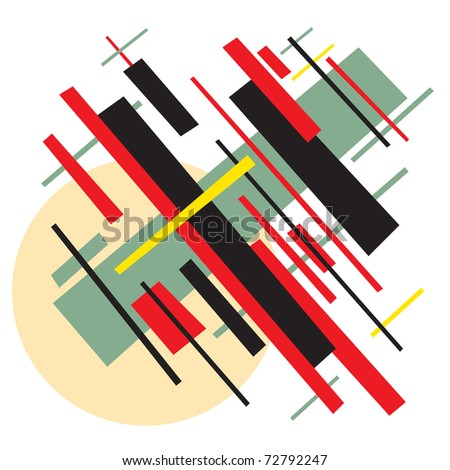 Soviet abstract painting background in style socialist avant-garde art. Bitmap copy my vector ID: 72634486 - stock photo