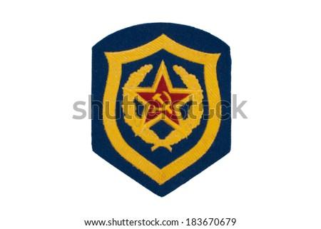 soviet army mechanized infantry badge isolated - stock photo
