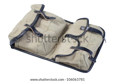 soviet army svd ammo pouch - bag for ammo - stock photo