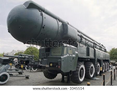 Soviet ballistic rocket - stock photo