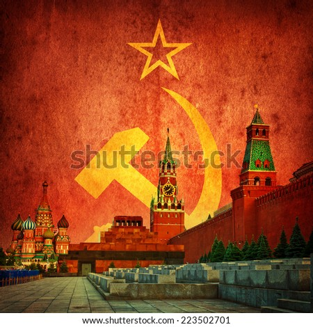 soviet communistic background - stock photo