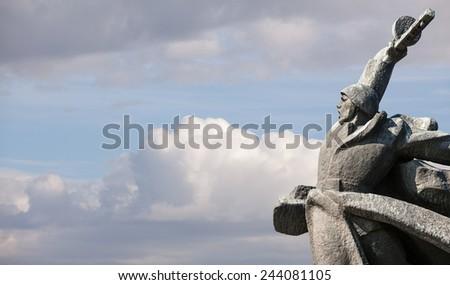 Soviet era WW2 memorial in Kiev Ukraine - stock photo