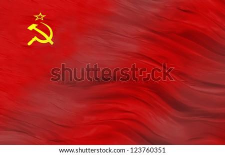 Soviet Flag - stock photo