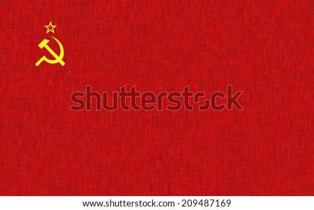 Soviet Flag fabric texture - stock photo