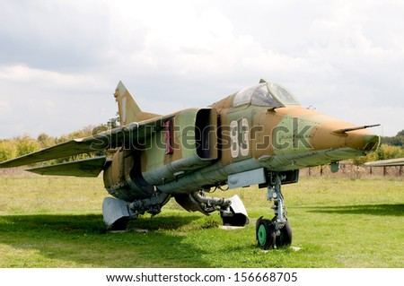 Soviet Jetfighter Mig-27. - stock photo