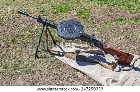 Soviet light machine gun (Degtyarev) (DP 27) (Model 1940) - stock photo