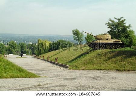 Soviet monument of World War II, Ukraine - stock photo