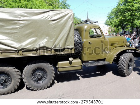 Soviet post-WW2 general purpose 2.5 ton 6x6 truck ZIL-157 with canvas top