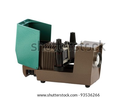 Soviet slide projector - stock photo