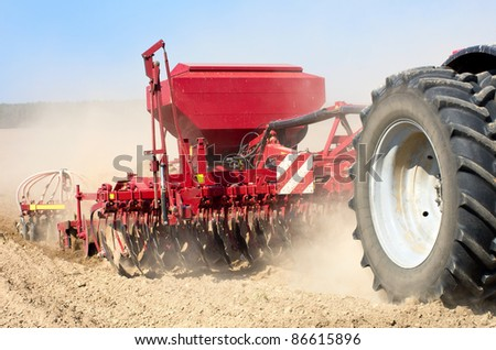Sowing machine close up. - stock photo