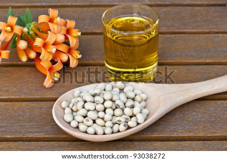 Soy bean, oil - stock photo