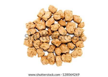 soy chunks isolated on a white background