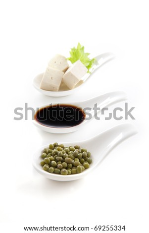 soy products - stock photo