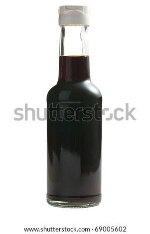 soy sauce in bottle - stock photo