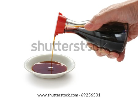 soy sauce , japanese condiment - stock photo