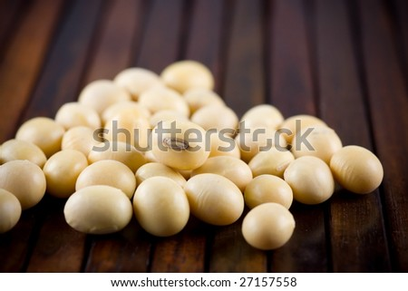 Soya bean, macro, shallow DOF - stock photo