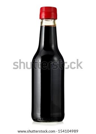 Soya sauce bottle - stock photo