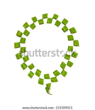 Soybean on white background. - stock photo