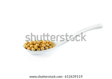 soybean on white background