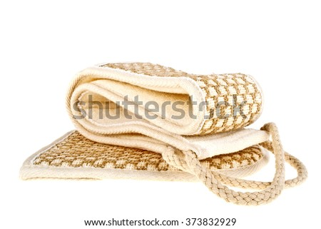 SPA accessories isolated on a white background