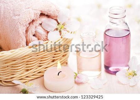spa and aromatherapy - stock photo