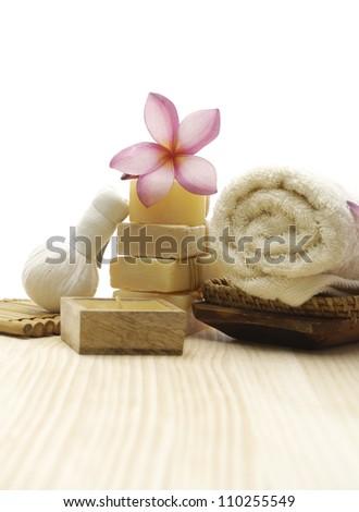 spa and aromatherapy set - stock photo