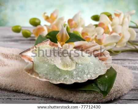 spa and bath concept - stock photo