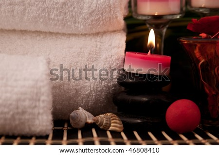 Spa and bathroom decorations for relaxed atmosphere