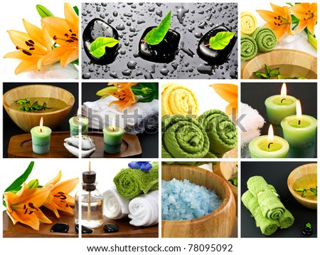 Spa and Beauty composition - stock photo