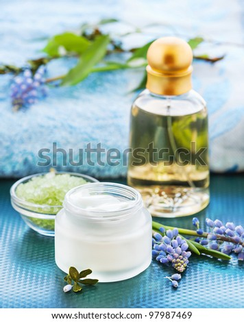 SPA and body care products - stock photo