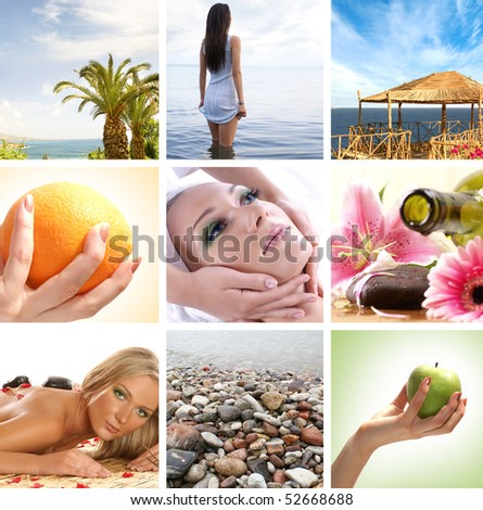 Spa and health collages made of some bright pictures