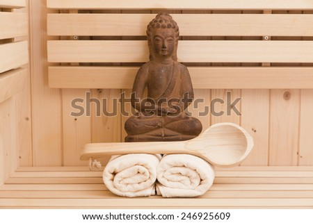 spa and wellness accessories - stock photo