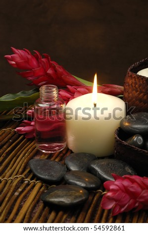 spa and wellness concept - stock photo