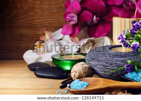 Spa and wellness setting - stock photo