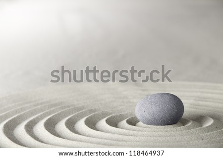spa and zen background relaxation and meditation concept for purity spirituality serenity calmness peaceful harmony simplicity relax sand and stone with lines and copyspace