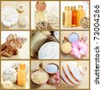 Spa aroma therapy. Natural body care products - stock photo