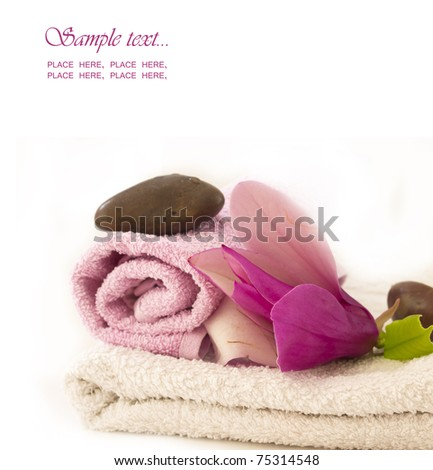 spa arrangement with the place for your text