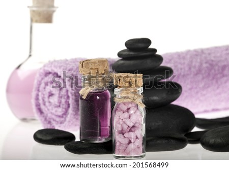 Spa background in the range of violet and black.
