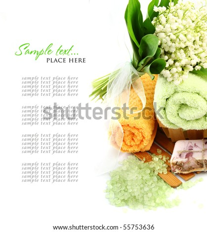 SPA background. Shallow DOF - stock photo
