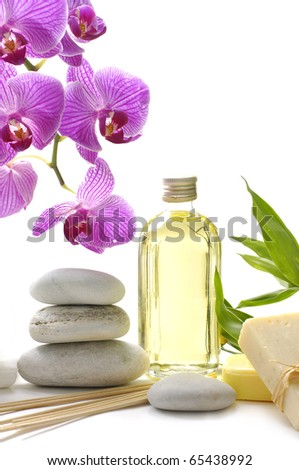 Spa background -wellness and relax - stock photo
