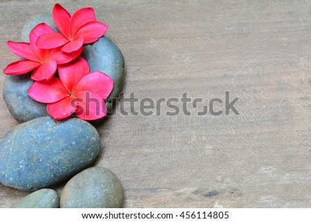 spa background with stone and frangipani - stock photo