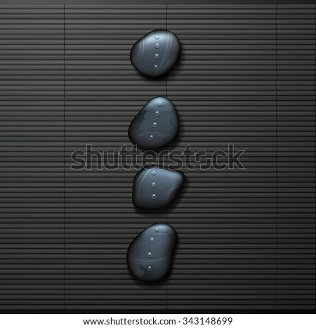 spa background with  stone spa - stock photo