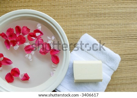 Spa Bath Setting - stock photo