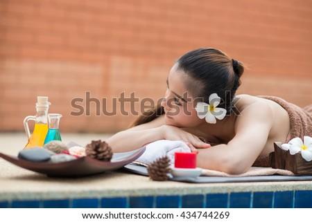 spa beauty - stock photo