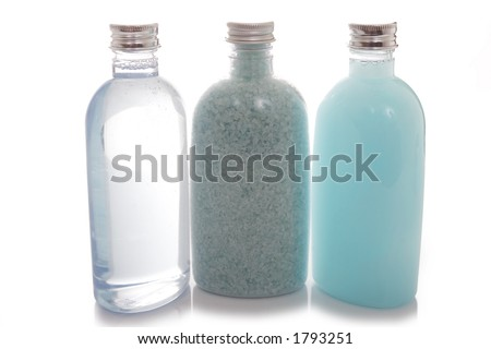 Spa beauty kit - bottles of lotions