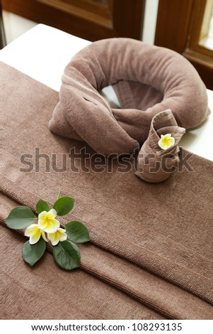 spa bed - stock photo