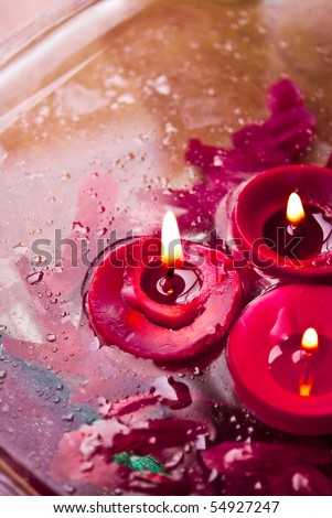 Spa candle - stock photo