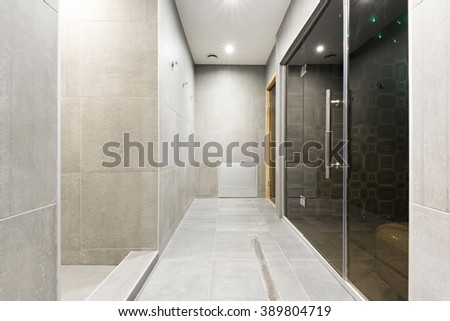 Spa center interior, corridor - stock photo